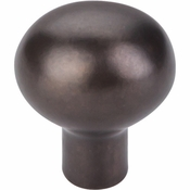 "Top Knobs - Aspen Collection - Aspen Egg Knob Small 1 3/16"" - Medium Bronze - M1527"