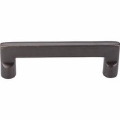 "Top Knobs - Aspen Collection - Aspen Flat Sided Pull 4"" (c-c) - Medium Bronze - M1362"