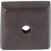 "Top Knobs - Aspen Collection - Aspen Square Backplate 7/8"" - Medium Bronze - M1447"