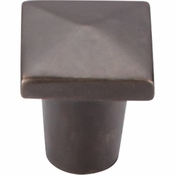 "Top Knobs - Aspen Collection - Aspen Square Knob 3/4"" - Medium Bronze - M1507"