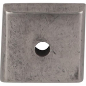 "Top Knobs - Aspen Collection - Aspen Square Backplate 7/8"" - Silicon Bronze Light - M1445"