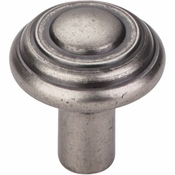"Top Knobs - Aspen Collection - Aspen Button Knob 1 1/4"" - Silicon Bronze Light - M1470"