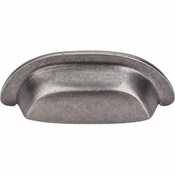 "Top Knobs - Aspen Collection - Aspen Cup Pull 3"" (c-c) - Silicon Bronze Light - M1410"
