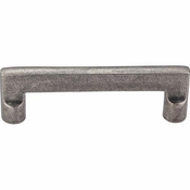 "Top Knobs - Aspen Collection - Aspen Flat Sided Pull 4"" (c-c) - Silicon Bronze Light - M1360"