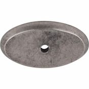"Top Knobs - Aspen Collection - Aspen Oval Backplate 1 3/4"" - Silicon Bronze Light - M1440"