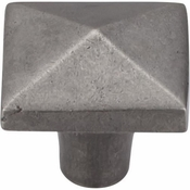 "Top Knobs - Aspen Collection - Aspen Square Knob 1 1/2"" - Silicon Bronze Light - M1520"