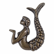 Atlas Homewares - 190R-BB - Mermaid Knob/Rt - Burnished Bronze