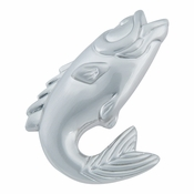 Atlas Homewares - 2204-BRN - Fish Knob - Brushed Nickel