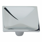 Atlas Homewares - 227-CH - Dap Square Knob - Polished Chrome