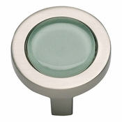 Atlas Homewares - 229-GR-BRN - Spa Green Round Knob - Brushed Nickel