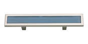 "Atlas Homewares - 231-BLU-BRN - Spa Blue Pull 3"" CC - Brushed Nickel"