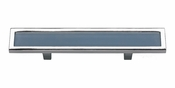 "Atlas Homewares - 231-BLU-CH - Spa Blue Pull 3"" CC - Polished Chrome"