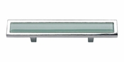 "Atlas Homewares - 231-GR-CH - Spa Green Pull 3"" CC - Polished Chrome"
