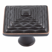 Atlas Homewares - 237-VB - Mandalay Square Knob - Venetian Bronze