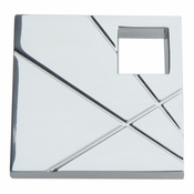 Atlas Homewares - 251L-CH - Modernist Square  Left Knob - Polished Chrome