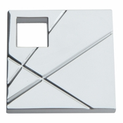 Atlas Homewares - 251R-CH - Modernist Square Right Knob - Polished Chrome