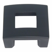 "Atlas Homewares - 255-BL - Centinel Square Knob 1.25"" CC - Matte Black"