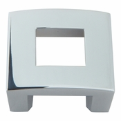 "Atlas Homewares - 255-CH - Centinel Square Knob 1.25"" CC - Polished Chrome"