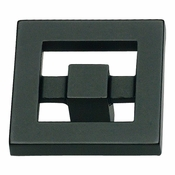 Atlas Homewares - 260-BL - Nobu Knob - Matte Black