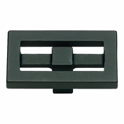 Atlas Homewares - 261-BL - Nobu Rectangle Knob - Matte Black
