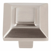 "Atlas Homewares - 283-BRN - Trocadero Small Knob 1"" - Brushed Nickel"