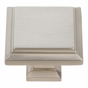 Atlas Homewares - 289-BRN - Sutton Place Square Knob - Brushed Nickel