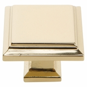 Atlas Homewares - 289-FG - Sutton Place Square Knob 1 1/4 Inch - French Gold