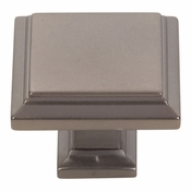 Atlas Homewares - 289-SL - Sutton Place Square Knob 1 1/4 Inch - Slate