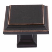 Atlas Homewares - 289-VB - Sutton Place Square Knob - Venetian Bronze