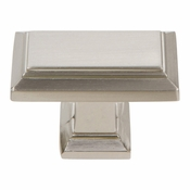 Atlas Homewares - 290-BRN - Sutton Place Rectangle Knob - Brushed Nickel