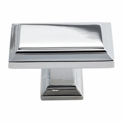 Atlas Homewares - 290-CH - Sutton Place Rectangle Knob - Polished Chrome