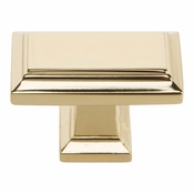 Atlas Homewares - 290-FG - Sutton Place Rectangle Knob 1 7/16 Inch - French Gold