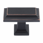Atlas Homewares - 290-VB - Sutton Place Rectangle Knob - Venetian Bronze
