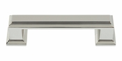 "Atlas Homewares - 291-PN - Sutton Place Pull 3"" CC - Polished Nickel"