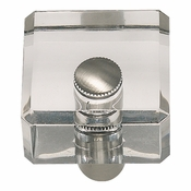 Atlas Homewares - 3145-BRN - Optimism Square Knob - Brushed Nickel