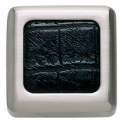 Atlas Homewares - 3149-BN-CRC - Paradigm Knob - Black Crocodile and Brushed Nickel
