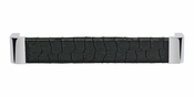 Atlas Homewares - 3151-CROC - Paradigm Pull 6 5/16 Inch (c-c) - CH & Black Croc Leather