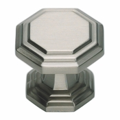 Atlas Homewares - 319-BRN - Dickinson Octagon Knob - Brushed Nickel