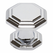 Atlas Homewares - 319-CH - Dickinson Octagon Knob - Polished Chrome