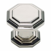 Atlas Homewares - 319-PN - Dickinson Octagon Knob - Polished Nickel