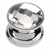Atlas Homewares - 3197-CH - Large Swarovski Crystal Round Knob - Polished Chrome