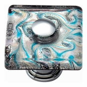 Atlas Homewares - 3203-CH - Ocean Square Glass Knob - Polished Chrome