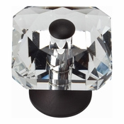 Atlas Homewares - 3209-BL - Crystal Square Knob - Matte Black