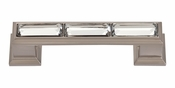 "Atlas Homewares - 341-BRN - Legacy Crystal Pull 3"" CC - Brushed Nickel"