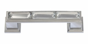 "Atlas Homewares - 341-CH - Legacy Crystal Pull 3"" CC - Polished Chrome"