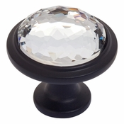 Atlas Homewares - 343-BL - Crystal Round Knob - Matte Black