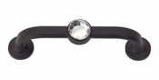 "Atlas Homewares - 344-BL - Crystal Bracelet Pull 3"" CC - Matte Black"