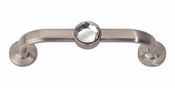 "Atlas Homewares - 344-BRN - Crystal Bracelet Pull 3"" CC - Brushed Nickel"