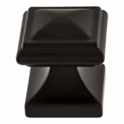 Atlas Homewares - 370-BL - Wadsworth Knob 1 1/4 Inch - Matte Black