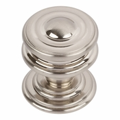Atlas Homewares - 376-BRN - Campaign Round Knob 1 1/4 Inch - Brushed Nickel